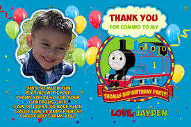 thomas train birthday card customized printable thomas