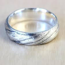 mens wedding ring sizes bristlecone pine tree bark wedding band in recycled silver mens