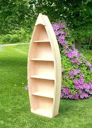 boat bookcases handcrafted 4 foot wood row boat bookcase shelf