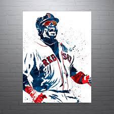 Boston Red Sox Home Decor by David Ortiz Boston Red Sox Sports Art Print Baseball Poster