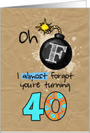 40th birthday cards from greeting card universe