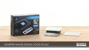 sharper image precision digital food scale bed bath u0026 beyond