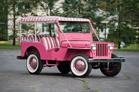 jeep pink wallpaper 1960 willys jeep gala surrey dj 3a vintage pink color