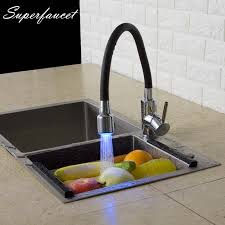 led kitchen faucet aliexpress buy superfaucet led kitchen faucet brass chrome
