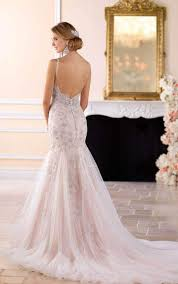 wedding dress open back wedding dresses silver beaded open back wedding dress stella york