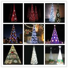 Outdoor Christmas Decorations Spiral Trees by Led Spiral Tree White Outdoor Lighted Metal Christmas Trees Giant