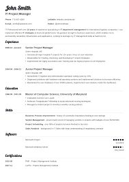 it resume template 20 resume templates create your resume in 5 minutes