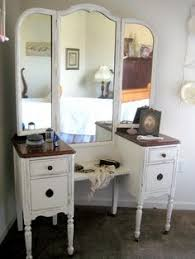 Antique Dresser Vanity Trifold Vanity Transformation A Makeover To See Antique Vanity