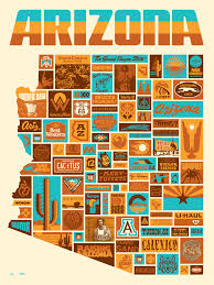 Arizona Map Cities by 30 Ddc