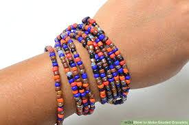 bangle beaded bracelet images 4 ways to make beaded bracelets wikihow jpg
