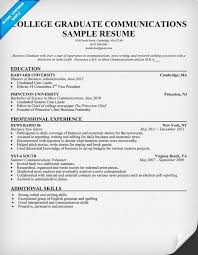 Examples Of College Graduate Resumes by Sample Resume For College Graduate Jennywashere Com