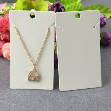 necklace pendant display images 500pcs lot 9 5cm new fashion jewelry cards white pendant display jpg