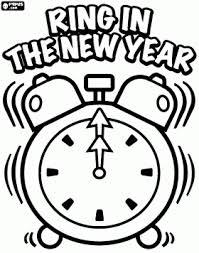 happy new year preschool coloring pages alarm clock that rings when the new year arrives at midnight