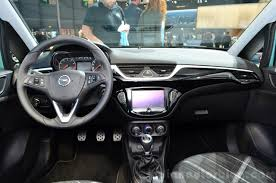 opel paris 2015 opel corsa 5 door dashboard at the paris motor show 2014