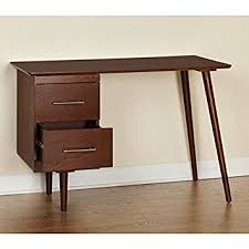 Amazon Com Angelo Home Leon Mid Century Desk Home Kitchen