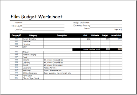 film budget worksheet template for excel excel templates