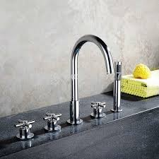 pull out bathtub faucet bathroom bathtub mixer with pull out hand held shower head chrome