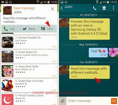 samsung galaxy s5 read text messages in android 4 4 2