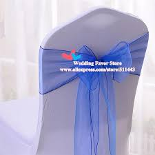 royal blue chair sashes 100pcs royal blue organza chair sashes wedding chair cover bow