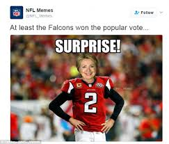 Funny Voting Memes - memes poke fun at atlanta falcons super bowl choke daily mail
