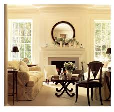 miami mirrors over fireplace living room traditional with white