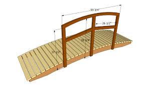 backyard bridges garden bridge plans free outdoor plans diy