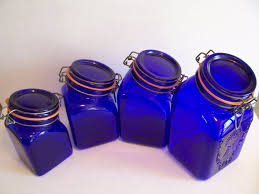 cobalt blue kitchen canisters 100 vintage glass canisters