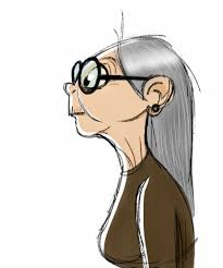 old lady sketch on ipad follow me at http 2dmiriam com