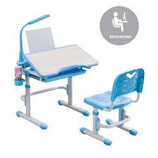 ergonomic children study desk u0026 chair set led table lamp
