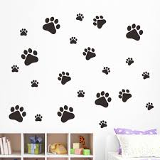 online get cheap wall stickers dogs aliexpress com alibaba group multicolor dog cat paw print wall stickers walking paw prints wall decal home art decor