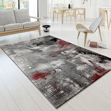 designer teppiche designer teppich modern arizona leinwand optik grau rot creme
