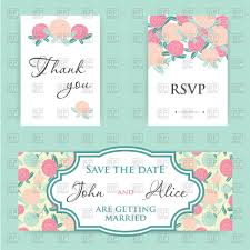 Invitation Cards Software Free Download Pastel Wedding Invitation Cards With Rose Flowers Vector Image