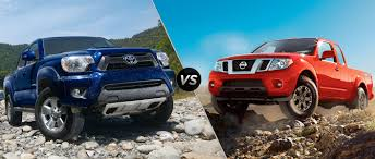 nissan frontier 2015 toyota tacoma vs 2015 nissan frontier