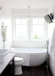 Decorator White Walls Egg Shaped Tub Contemporary Bathroom Benjamin Moore