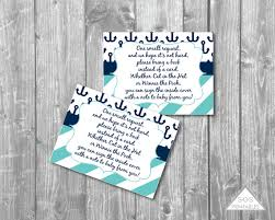 Bring Book Instead Of Card To Baby Shower Anchor Book Insert Nautical Bring A Book Instead Of A Card