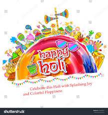 illustration colorful happy holi background festival stock vector