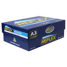 paper ream box reflex ultra white 80gsm a3 copy paper 3 ream officeworks