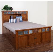 Bookcase Storage Bed Design Sedona Queen Bookcase Storage Bed