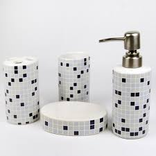 Modern Bathroom Accessories Sets Morden Mosaic Ceramic Bath Accessory Set Modern Bathroom Mosaic