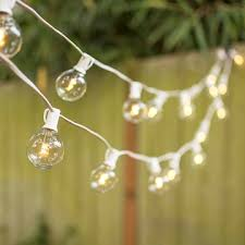 globe string lights g40 bulb 100 ft white c7 strand warm white