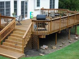 Backyard Deck Plans Pictures by Wood Deck Ideas Plans Images Must As The Main Access To Deck This