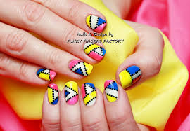 gelish pop art nail art funky fingers factory