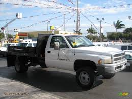 1998 dodge ram 3500 st regular cab chassis in bright white