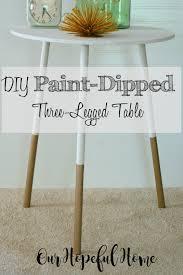 our hopeful home diy paint dipped three legged table thrift diy paint dipped three legged table our hopeful home