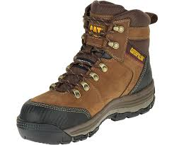 womens work boots uk munising 6 waterproof composite toe work boot brown cat