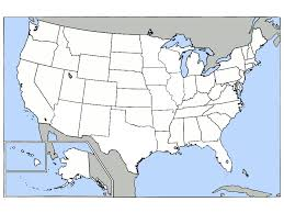 Map Of Us And Canada Blank United States Map Quiz Unit 3 Mr Reid Geography For Life