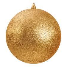340mm glitter baubles gold dzd