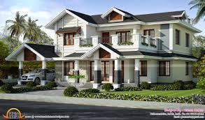 2446 sq ft villa exterior kerala home design and floor villas