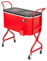 Patio Ice Cooler by Hio 80 Qt Outdoor Patio Cooler Table On Wheels Rolling Cooler
