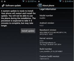how to upgrade android version lava iris 405 now receiving android 4 4 2 kitkat update